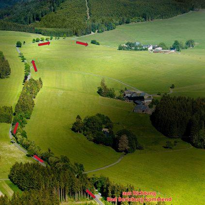 Landgasthof Wittgensteiner Schweiz Anfahrtsbeschreibung